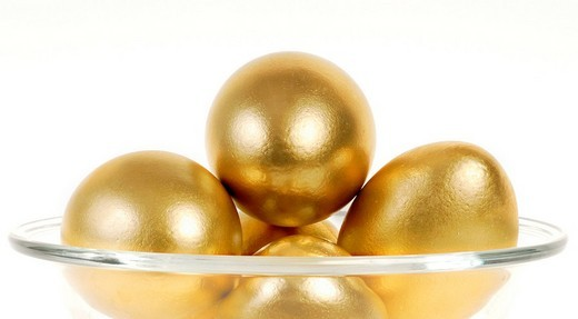 Golden eggs : Stock Photo