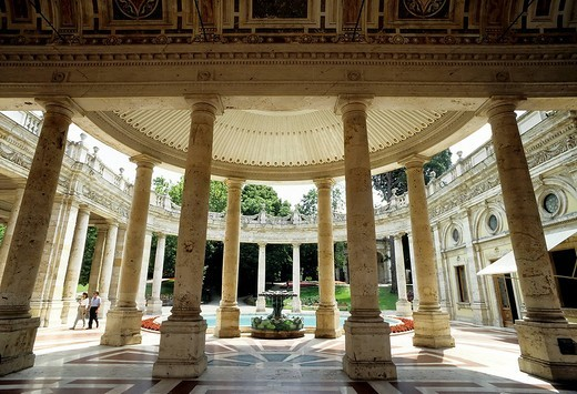 Tettuccio, thermal spa in an Art Nouveau style, colonnade, Montecatini Terme, Tuscany, Italy, Europe : Stock Photo