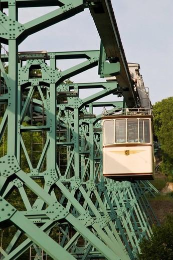 Loschwitz Bergschwebebahn aerial tramway, Dresden, Saxony, Germany : Stock Photo