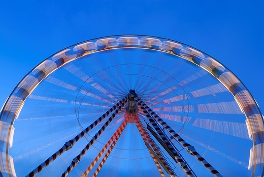 A big wheel on a annual fair _ Baden Wuerttemberg Germany Europe. : Stock Photo
