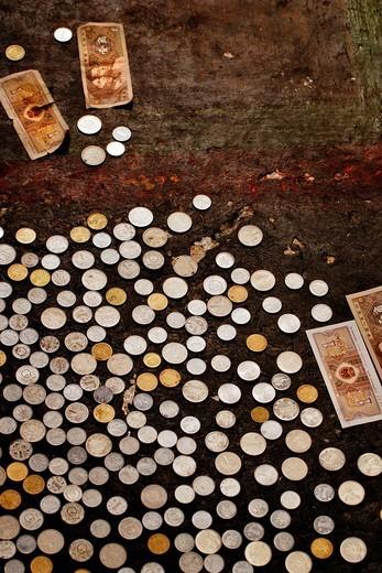 Stock Photo: 1848-191217 Money donation, Palcho Monastery or Pelkor chode or Shekar, Gyantse, Tibet