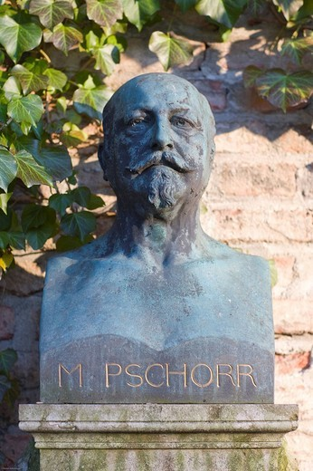 Grave of Matthias Pschorr, 1834_1900, beer brewer, Alter Suedfriedhof Cemetery, Munich, Bavaria, Germany : Stock Photo