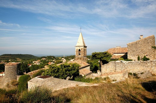 Stock Photo: 1848-19213 Church of Le Pegue, Provence, France, Europe