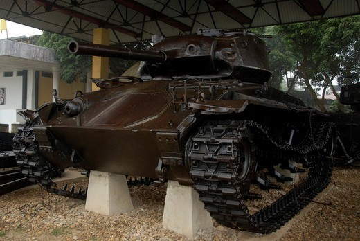 First Indochina War 1954, old French tank, Dien Bien Phu museum, Vietnam, Southeast Asia, Asia : Stock Photo