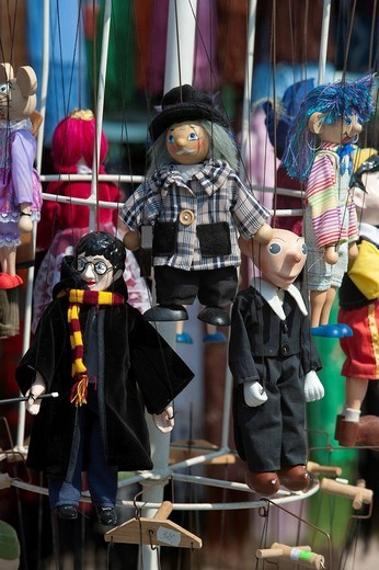 String puppets, Karloetejn, Czech Republic, Europe : Stock Photo