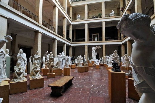 Museum fuer Abguesse Klassischer Bildwerke museum of casts of classical statues, Meiserstr. 10, Munich, Bavaria, Germany, Europe : Stock Photo