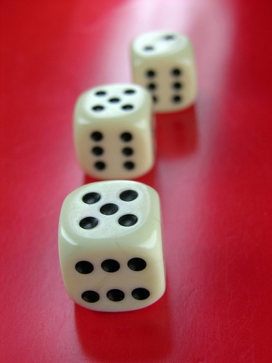 Three dice : Stock Photo