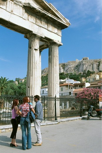 Stock Photo: 1848-195550 Hadrian Library, Acropolis, Athens, Greece, Europe
