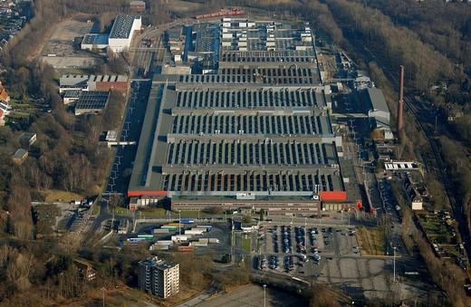 Stock Photo: 1848-196089 Aerial photo, OPEL Werk 2 Langendreer, Opel car factory plant 2, Bochum, Ruhr district, North Rhine_Westphalia, Germany, Europe