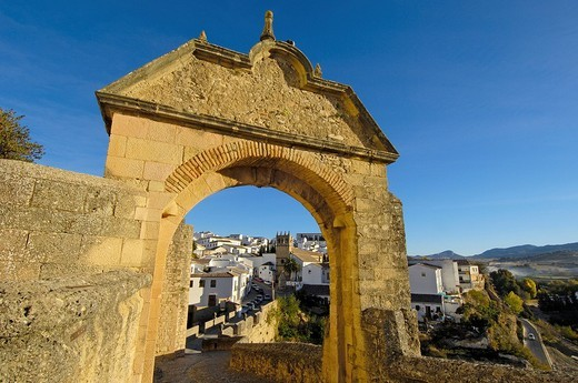 Stock Photo: 1848-198492 Archway of Philip V, Ronda, Málaga province, Andalusia, Spain, Europe