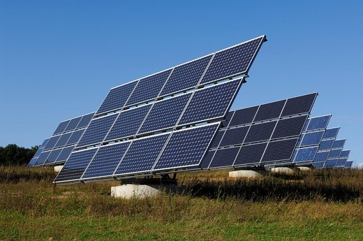 Photovoltaic plant for energy generation : Stock Photo