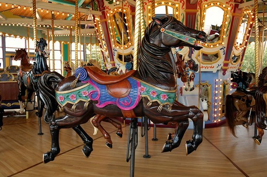 Hand crafted carousel horse : Stock Photo