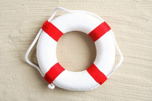 Stock Photo: 1848-199333 Lifesaver flotation device