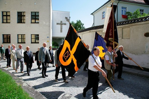 Stock Photo: 1848-199521 Corpus Christi procession, Muehldorf am Inn, Upper Bavaria, Germany, Europe