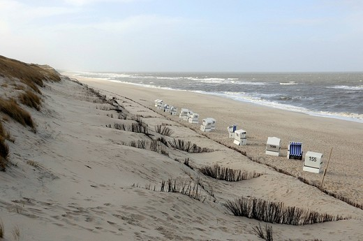 At the beach at Wenningstedt, Sylt Island, North Frisian Islands, Schleswig_Holstein, Germany, Europe : Stock Photo