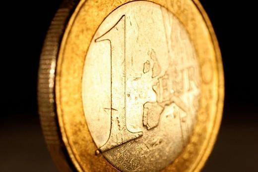 One_euro coin : Stock Photo