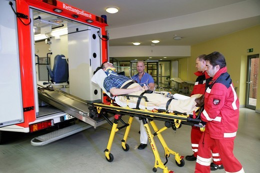 Casualty unit, emergency room of a hospital, Germany : Stock Photo