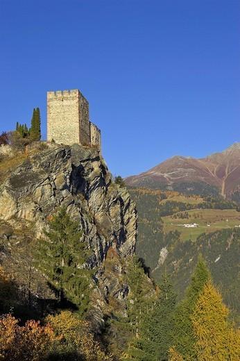 Stock Photo: 1848-200513 Castle Laudegg, Ladis, Inn valley, Tirol, Austria