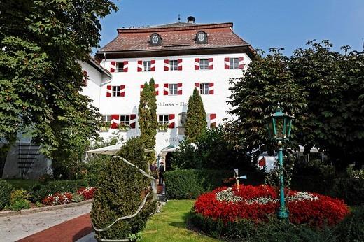 Stock Photo: 1848-200631 Schlosshotel Iglhauser castle hotel, Mattsee, Flachgau, Salzburger Land region, Salzburg, Austria, Europe