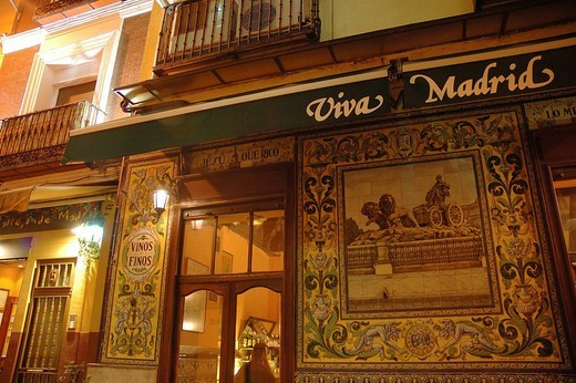 Stock Photo: 1848-200663 Bar Viva Madrid, Madrid , Spain , Europe