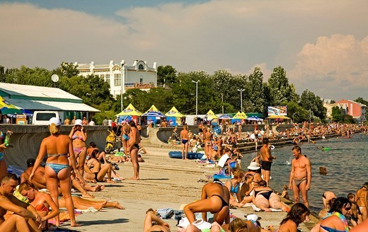 Beach Promenade, Yefbatoria, Crimea, Ukraine, South_Easteurope, Europe, : Stock Photo