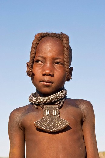 Stock Photo: 1848-200874 Young Himbagirl, Kaokoveld, Namibia, Africa