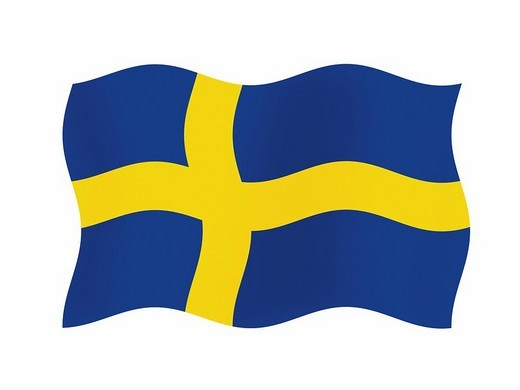 The flag of Sweden _ graphic : Stock Photo