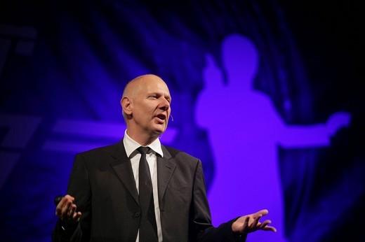 The futurologist Matthias Horx : Stock Photo
