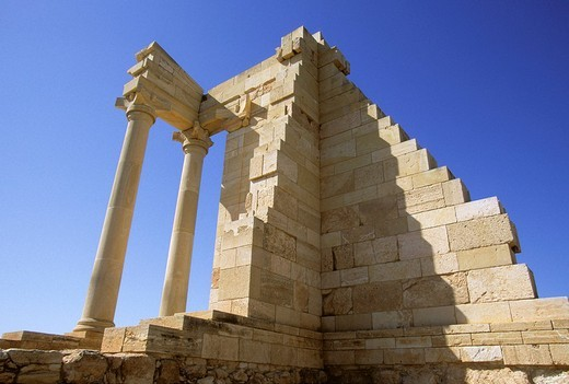 Temple of Hylates later likened to Apollo in Kourion, Cyprus : Stock Photo