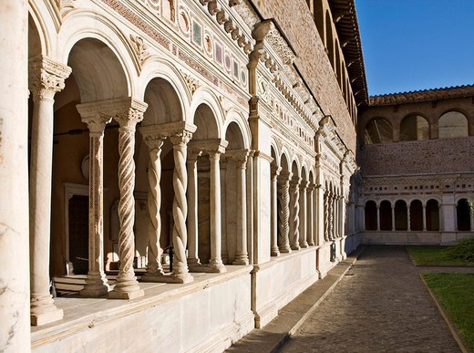 Cloister, Basilica of St John Lateran, Rome, Italy, Europe : Stock Photo