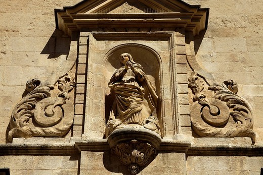 Stock Photo: 1848-202403 Portal of the Ancienne Cathedrale Ste_Anne Church, in Apt En Provence, France, Europe