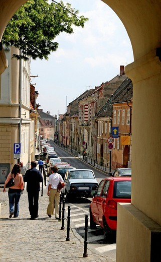 Historic centre, Brasov, Transylvania, Romania, Europe : Stock Photo