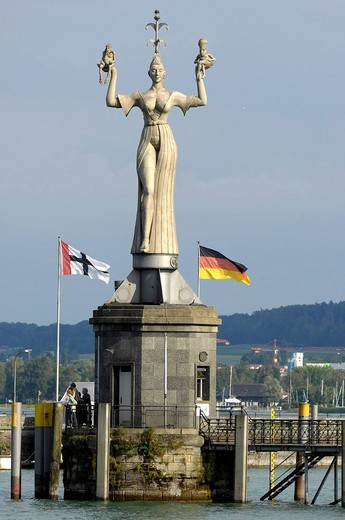 Landmark IMPERIA at the port entrance of Constance, Baden_Wuerttemberg, Germany : Stock Photo