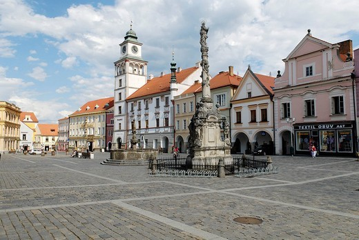 Stock Photo: 1848-204827 Historic old town of Trebon, Wittingau, South Bohemia, Czech Republic