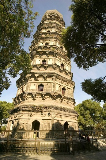 Huqiu Shan Temple on the Tigerhill, Suzhou, China, Asia : Stock Photo