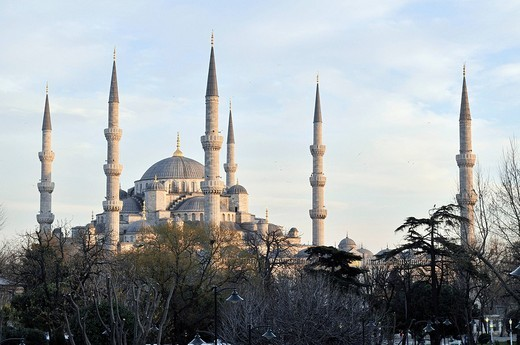 Sultan Ahmed Mosque aka Blue Mosque, Istanbul, Turkey : Stock Photo