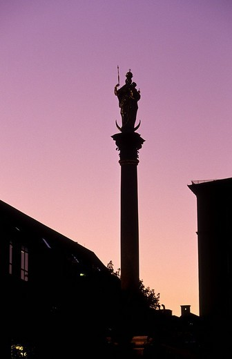 Mariensaeule, Marian Column, Munich, Bavaria, Germany, Europe : Stock Photo
