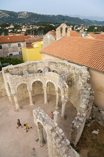 Stock Photo: 1848-206162 St. John the Evangelist Church, Rab, Rab Island, Istria, Croatia, Europe