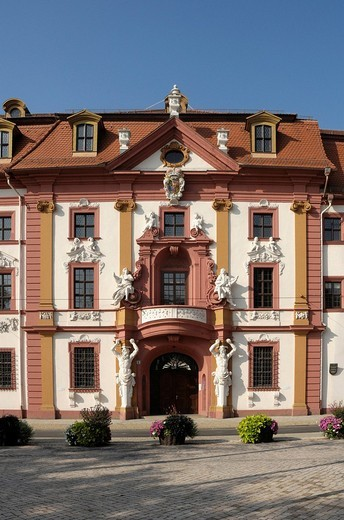 State Chancellery, Government Street, Erfurt, Thuringia, Germany, Europe : Stock Photo