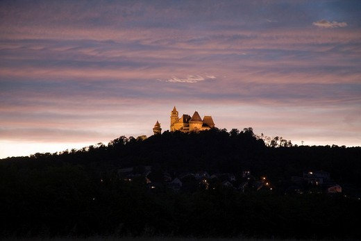 Kreuzenstein castle, Leobendorf, Weinviertel Region, Lower Austria, Austria : Stock Photo