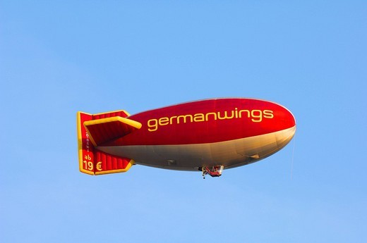Germanwings logo on a blimp : Stock Photo