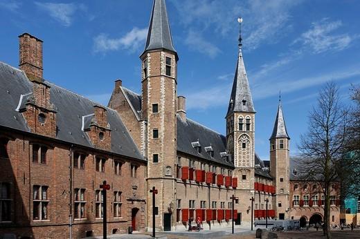Abdij, Abbey, Zeeuws Museum, regional museum, Middelburg, Walcheren, Zeeland, Netherlands : Stock Photo