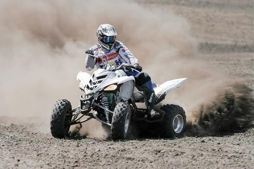 Yamaha Quad driving off_road : Stock Photo