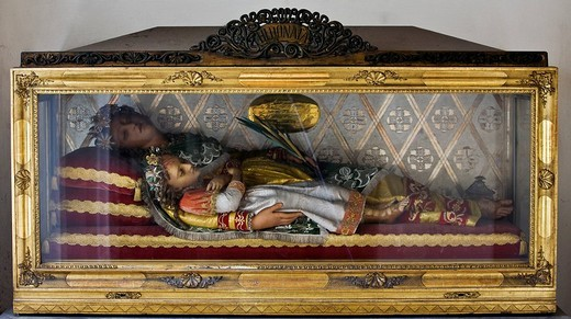 Stock Photo: 1848-207978 Glass coffin in Stiegenkirche, Step Church, in Graz, Styria, Austria, Europe