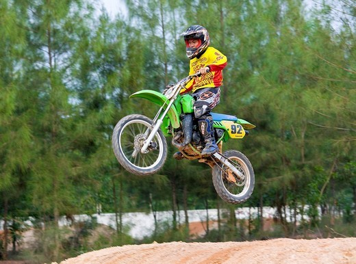 Stock Photo: 1848-208147 Motocross near Bang Tao Phuket Island Southern Thailand Southeast Asia