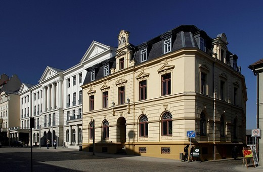 Stock Photo: 1848-208336 Historic buildings on Schlossstrasse street, Ministry of Finance of the State of Mecklenburg_Western Pomerania, Schwerin, Mecklenburg_Western Pomerania, Germany, Europe