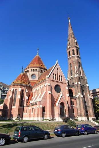 Stock Photo: 1848-208700 Calvinist church in the district Buda, Budapest, Hungary