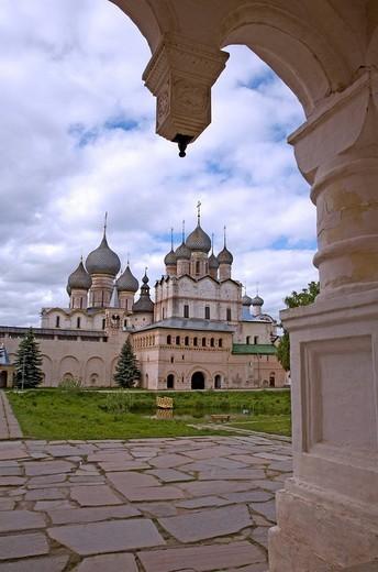 Stock Photo: 1848-208779 Assumption cathedral, Kremlin, Rostov, Russia