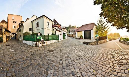 Stock Photo: 1848-209053 Old town of Duernstein, Wachau Region, Lower Austria, Austria