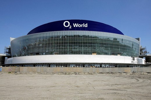 O2 World, Anschutz Entertainment Group Development GmbH, venue at Berlin_Friedrichshain, Germany, Europe : Stock Photo